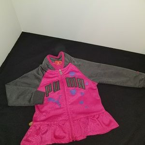 🎀Baby Girl Puma Zip Up Jacket Size: 18 Months🎀